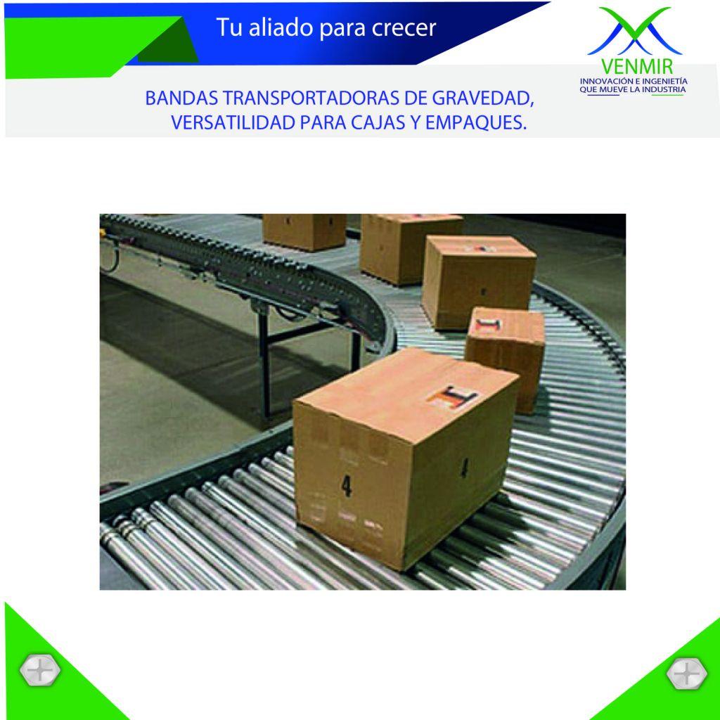 Banda transportadora con cajas en diseño venmir
