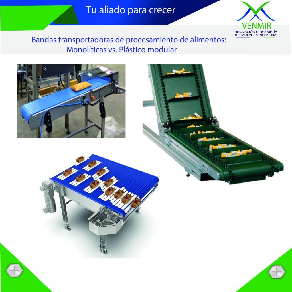 Bandas transporadoras para procesar alimentos