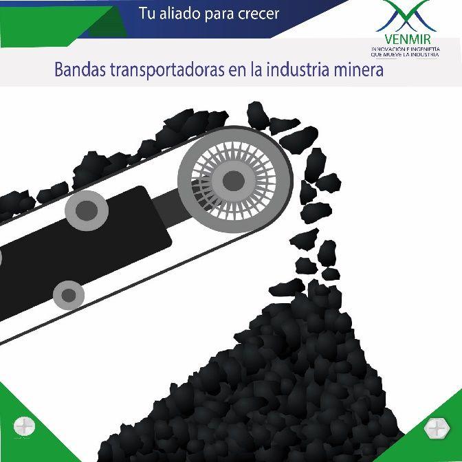 ilustración de banda transportadora en la industria de la minería