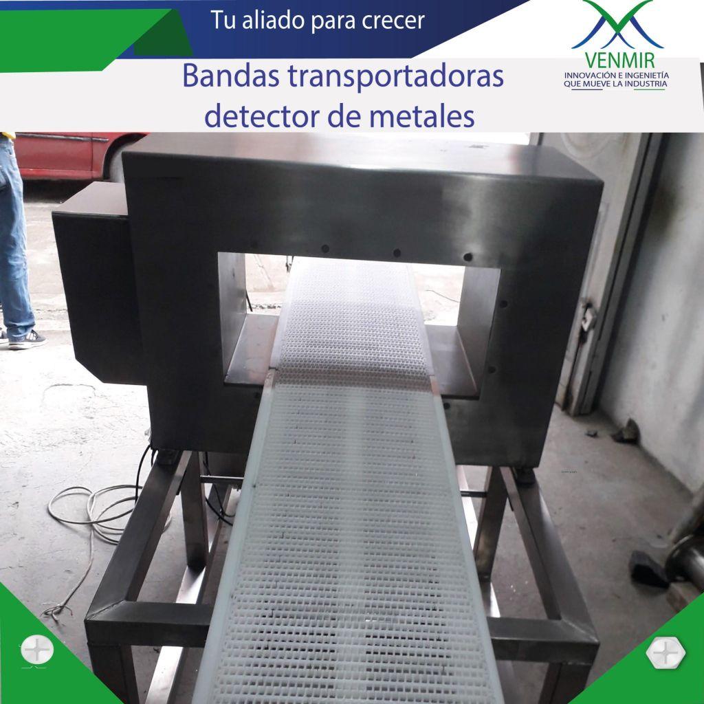 banda transportadora con detector de metales en diseño venmir