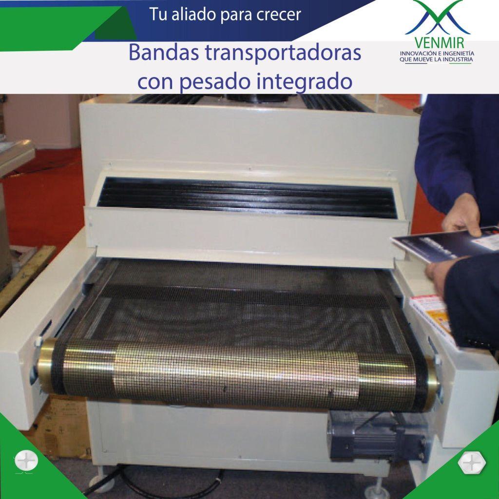 Banda transportadora en acero con pesaje integrado en diseño venmir